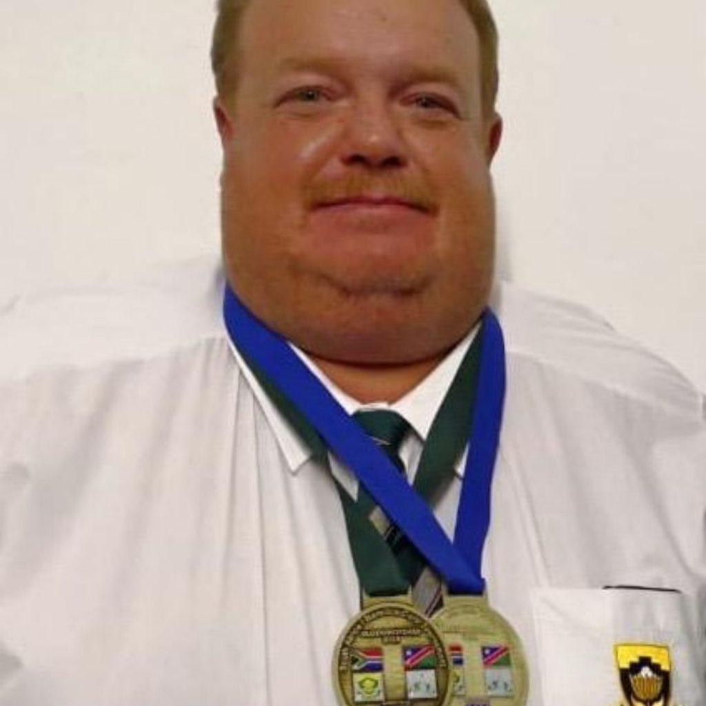 Johan Met medalje